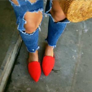 Shoes - 🆕️//The Brooklyn// Red Vegan suede Mules